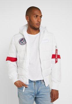 Alpha Industries - HOODED PUFFER NASA - Winterjacke - white