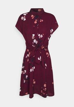 Vero Moda - VMHALLIE TIE SHORT DRESS - Abito a camicia - dark red