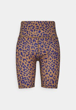 Dedicated - BIKE TIGHTS KORTEBO LEOPARD - Shorts - chipmunk