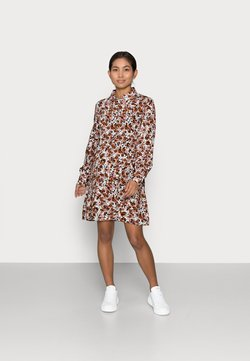 Pieces Petite - PCFRIDINEN DRESS - Blusenkleid - mocha bisque