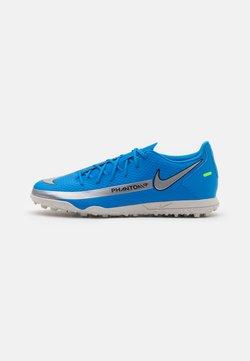 Nike Performance - PHANTOM GT CLUB TF - Chaussures de foot multicrampons - photo blue/metallic silver/rage green