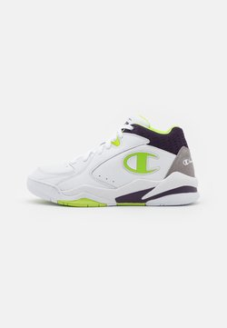 Champion - MID CUT SHOE ZONE MID - Zapatillas de baloncesto - white/lime