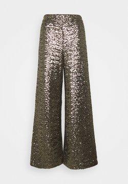 Banana Republic - EWAIST WIDE LEG CLUSTER SEQUIN - Broek - bold bronze