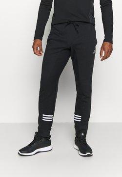 adidas Performance - ESSENTIALS TRAINING SPORTS PANTS - Jogginghose - black/white