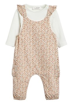 Next - PINK DITSY DUNGAREES (0MTHS-2YRS) - Salopette - pink