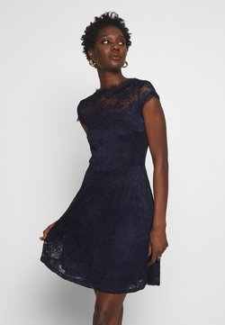 Anna Field - ALL OVER LACE DRESS FIT AND FLARE - Cocktailkleid/festliches Kleid - evening blue