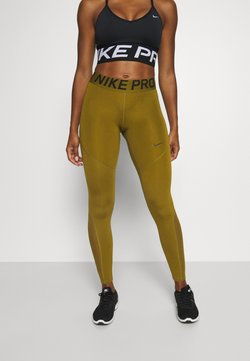 Nike Performance - Tights - olive flak/olive flak/black