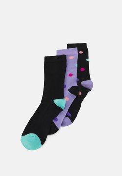 Wild Feet - DOTTY SOCKS 3 PACK - Socken - black