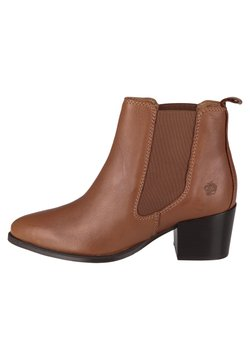 Apple of Eden - CHELSEA WEN - Ankle Boot - cognac