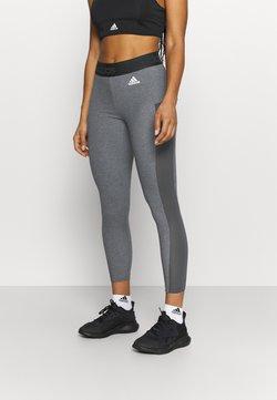 adidas Performance - Collants - dark grey heather/white