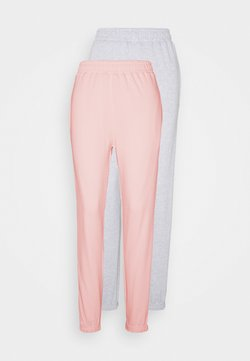 Missguided - BASIC JOGGERS 2 PACK - Jogginghose - pink/grey