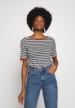 edc by Esprit - CONTRAST NECK - T-Shirt print - black