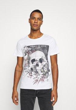 Jack & Jones - JORFALL TEE CREW NECK  - Print T-shirt - cloud dancer