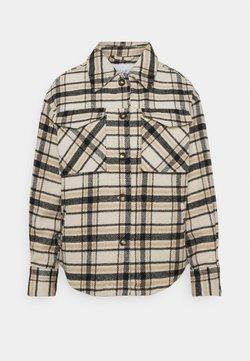 Vila - VIRUBI CHECK JACKET - Summer jacket - birch/white/black