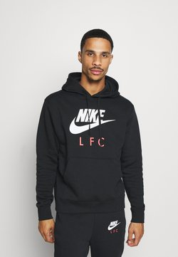 Nike Performance - LIVERPOOL FC CLUB HOODIE - Vereinsmannschaften - black/white