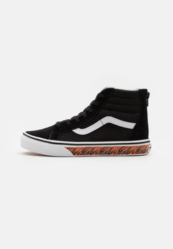 Vans - SK8 ZIP - Korkeavartiset tennarit - black