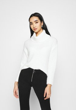 Even&Odd - ROLL NECK JUMPER - Strickpullover - off-white
