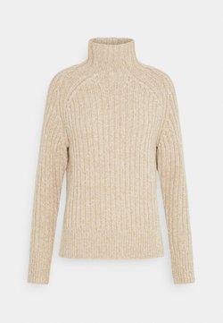 Polo Ralph Lauren - LONG SLEEVE - Neule - dark oatmeal marl