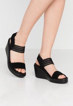 Skechers - RUMBLE ON - Sandalias con plataforma - black