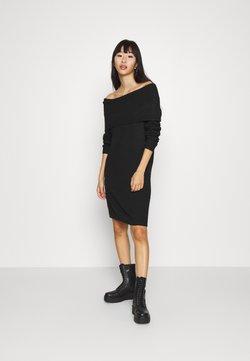 ONLY - ONLMARLI LIFE DRESS  - Strickkleid - black
