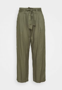Simply Be - TIE WAIST TROUSERS WITH POCKETS - Stoffhose - khaki