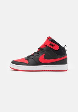 Nike Sportswear - COURT BOROUGH MID 2 UNISEX - Sneakers hoog - black/university red/white