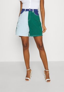 Missguided - FRAYED - Jeans Shorts - green