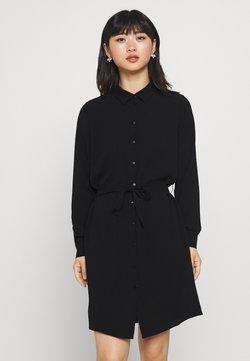 Vero Moda Petite - VMSAGA COLLAR SHIRT DRESS PETITE - Skjortekjole - black