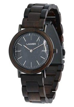 LAIMER - LAiMER Quarz Holzuhr - Analoge Armbanduhr  - Uhr - brown