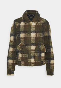 Scotch & Soda - SHORT CHECK JACKET - Leichte Jacke - brown