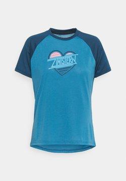 Zimtstern - HEARTZ TEE - T-Shirt print - blue steel/french navy