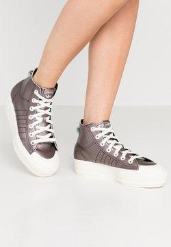 adidas Originals - NIZZA PLATFORM MID - Baskets montantes - core black/offwhite