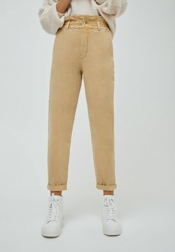 PULL&BEAR - PAPERBAG - Jeans Relaxed Fit - beige