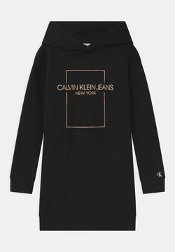 Calvin Klein Jeans - OUTLINE LOGO BOX HOODIE  - Freizeitkleid - black