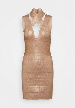 Hervé Léger - BANDAGE MINI DRESS - Day dress - rose gold