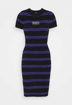 The Ragged Priest - NERVE DRESS - Strickkleid - black/purple