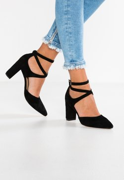 Anna Field - LEATHER CLASSIC HEELS - Korolliset avokkaat - black
