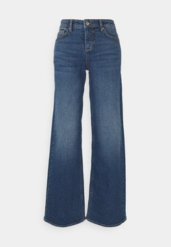 b.young - BYKATO BYLISA WIDE LEGS  - Jeans Relaxed Fit - mid blue denim