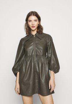 Topshop - ZIP DRESS - Vestido camisero - khaki