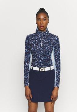 Kjus - WOMEN SUNSHINE SPORT HALF ZIP - Langarmshirt - atalanta blue/cloud blue