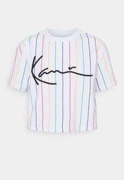 Karl Kani - SIGNATURE PINSTRIPE TEE - T-Shirt print - white