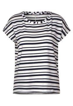 Street One - FEINEN STREIFEN - T-Shirt print - blau