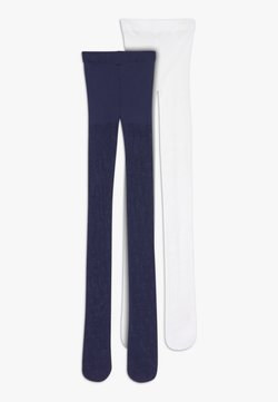 Benetton - TIGHTS 2 PACK - Panty - white/dark blue
