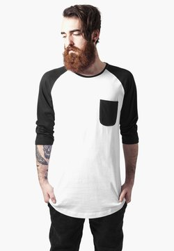 Urban Classics - URBAN CLASSICS HERREN LONG RAGLAN 3/4 SLEEVE POCKET TEE - Langarmshirt - white/black