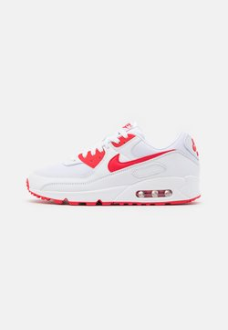 Nike Sportswear - AIR MAX 90 - Sneakersy niskie - white/hyper red/black
