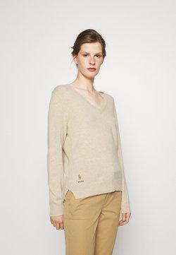 Polo Ralph Lauren - CLASSIC LONG SLEEVE - Sweter - tallow cream heather
