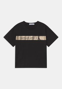 Calvin Klein Jeans - FOIL LOGO BOXY  - T-shirt con stampa - black