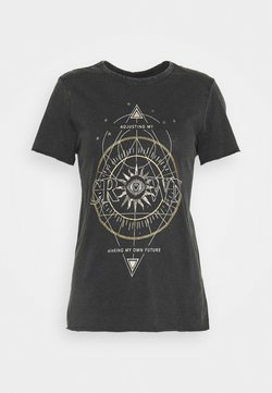 ONLY - ONLLUCY LIFE UNKNOWN CROWN - T-Shirt print - black/crown