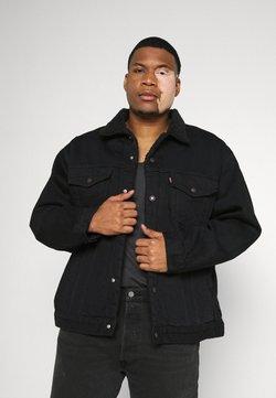 Levi's® Plus - BIG SHERPA TRUCKER - Kurtka jeansowa - black denim