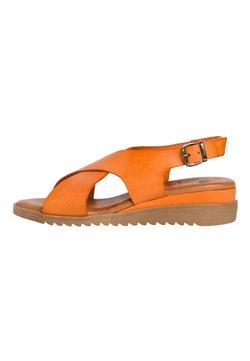 Jana - Sandalen met sleehak - orange
